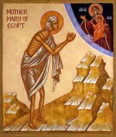 Μαρία Αιγυπτία_Saint Mary of Egypt Icon _святая Мария Египтяныня_Żywotst_mary_of_egypt_by_heather_mackean