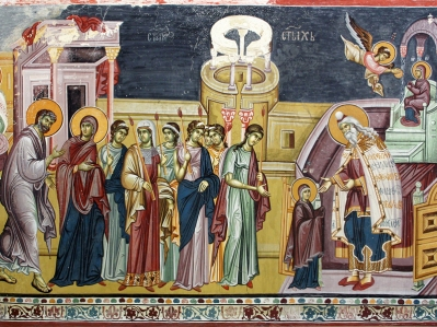Εισόδια της Θεοτόκου_ Entrance of the Theotokos_entrance-theotokos-Studenica_