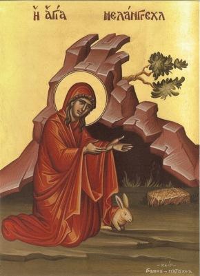 ΜΕΛΑΓΓΕΛ_.ΜΕΛΑΓΓΕΛΛΑ ΟΣΙΑ ΟΥΑΛΙΑΣ_St. Melangell the hermit Abbess of Wales_Св Мелангелла Уэльса_
