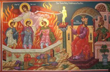 τρεις παίδες εν καμίνω_Three Holy Youths-Анания, Азария и Мисаил-255707185_dacdebb78e_b
